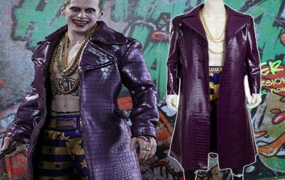 Why to choose Men's Jared Letro Purple Suicide Style Joker Coat in New York